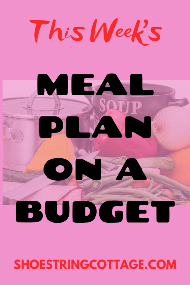 organised with a meal plan
