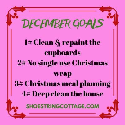 monthly goals for December