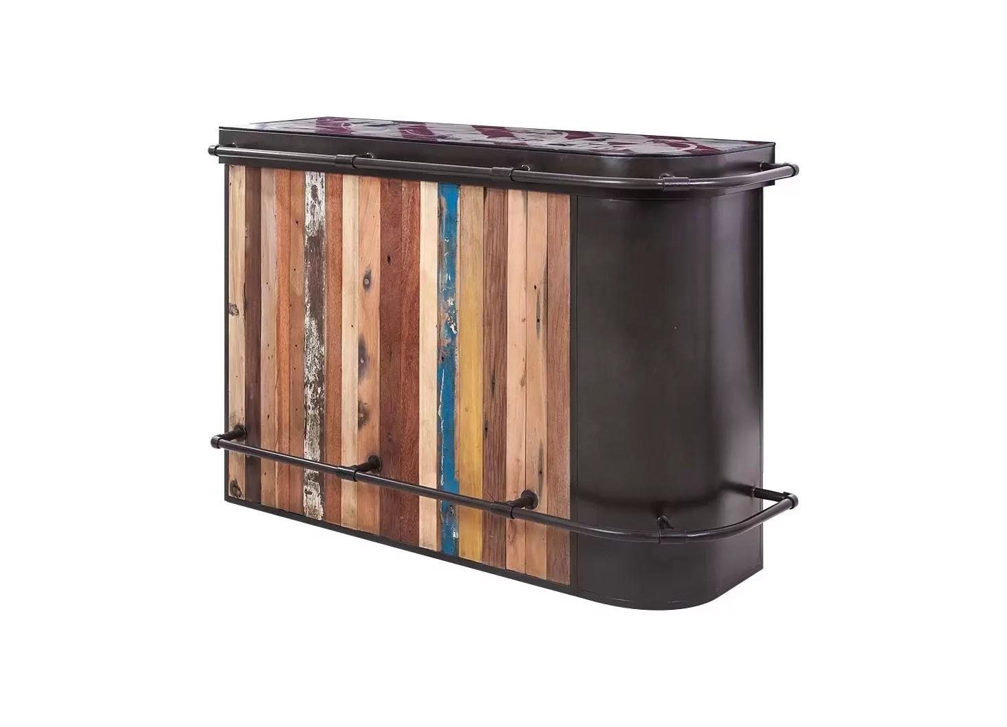 meuble bar comptoir symbiose avec angle a droite 3 tablettes