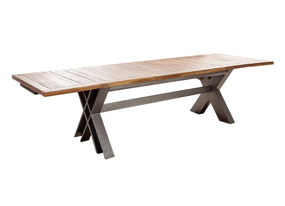 table repas extensible style industriel