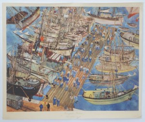 The port of Famagusta painting