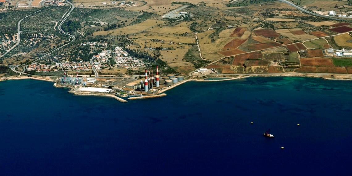 Dhekelia oil terminal aerial photo