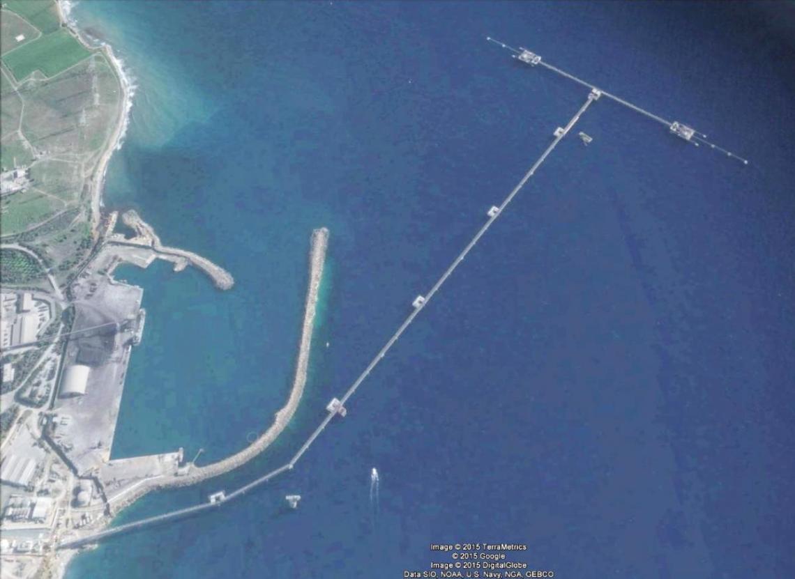 vttv oil terminal jetty aerial photograph