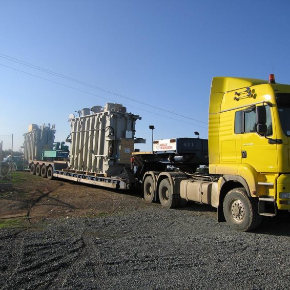 kolossi substation cyprus delivery of transformer
