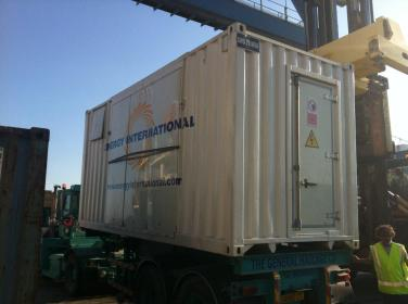 mobile electricity plant logistics