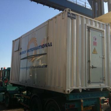 mobile electricity plant logistics