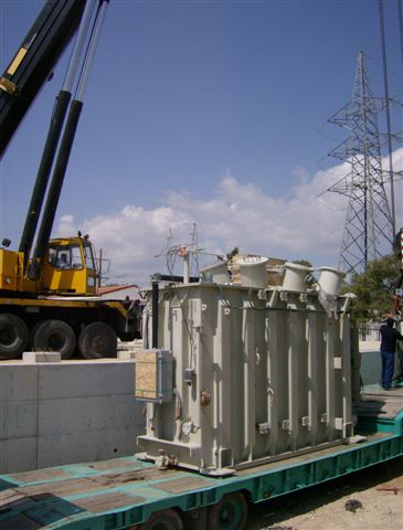 transport of transformer to Episkopi substation