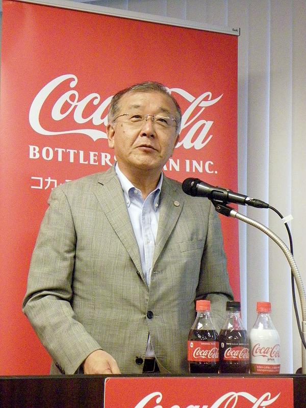 岡本繁樹執行役員コーポレートコミュニケーション統括部長(コカ・コーラボトラーズジャパン)