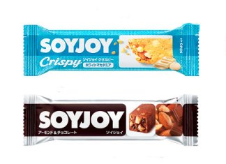 「ソイジョイクリスピー ホワイトマカダミア」「ソイジョイ アーモンド&チョコレート」