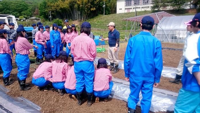 カゴメのトマト授業の風景(東日本大震災復興支援室)