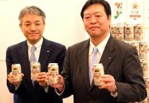 (左から)石橋誠一郎商品本部長(セブン―イレブン・ジャパン)、石田明文マーケティング本部長(キリンビール)