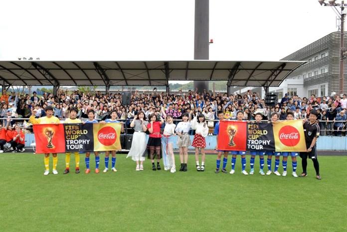一般公開イベントの様子(コカ・コーラFIFAワールドカップ トロフィーツアー)