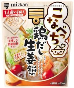 こなべっち 鶏だし生姜鍋つゆ(Mizkan)