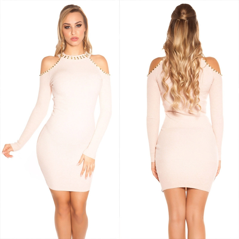 c77bfc8af0 KouCla dress with rivets Pink - Sholox Online Womens Store HOT DRESSES