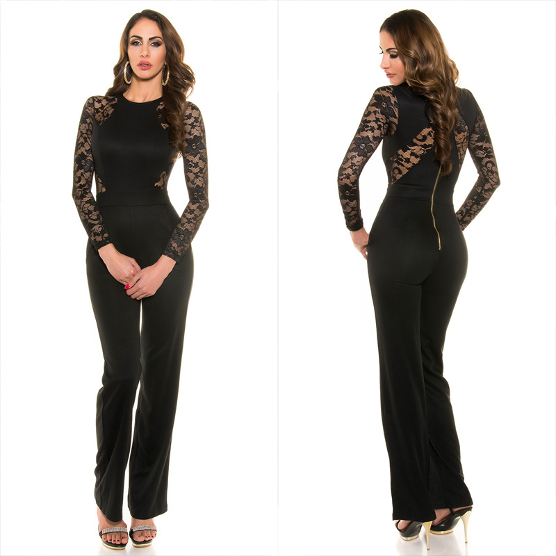 47d07f83149c Jumpsuit KouCla with sexy lace and zipper - Sexy ladies jumpsuits ...