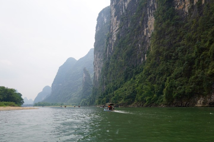 Bamboo boat to Yangshou from Guilin
