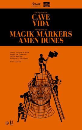 Cartel del concierto de Amen Dunes en Barcelona
