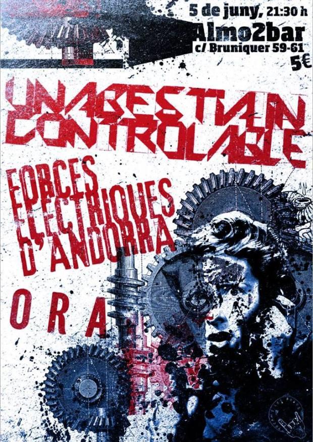 Cartel del concierto del próximo viernes