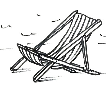 Chair Drawing Easy Drawadeckchairsmall For