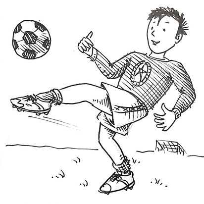 How to draw a soccer player | Shoo Rayner - Author