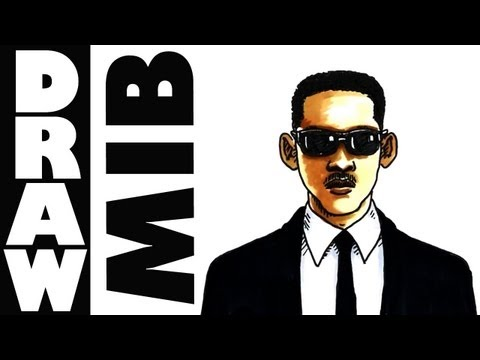 Learn To Draw Will Smith Mib In Pen And Ink Shoo Rayner