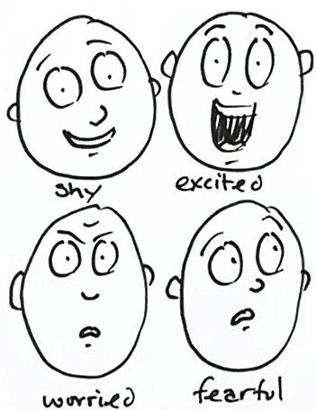How to draw 20 different expressions | Shoo Rayner