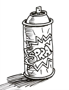How to draw a spray paint can | Shoo Rayner