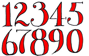 How To Draw Fancy Numbers Shoo Rayner Author