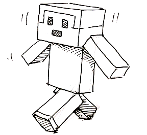 How to draw a Minecraft Person | Shoo Rayner