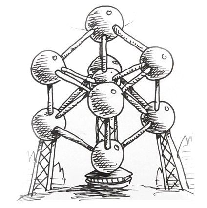 How To Draw The Atomium In Brussels Shoo Rayner Author