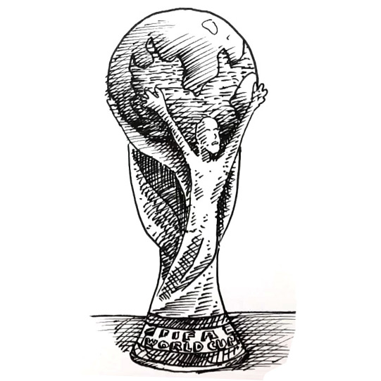How to draw the FIFA World Cup Tropy | Shoo Rayner