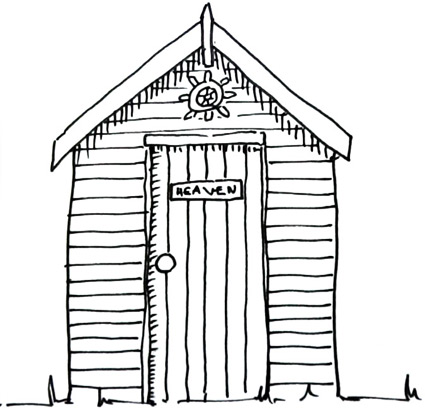 How to draw a beach hut Real Easy | Shoo Rayner