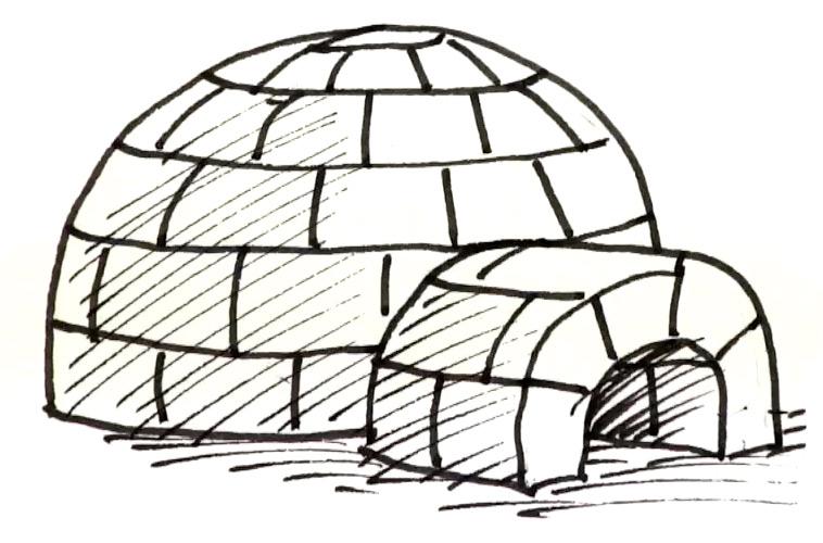 How to draw an Igloo   Shoo Rayner