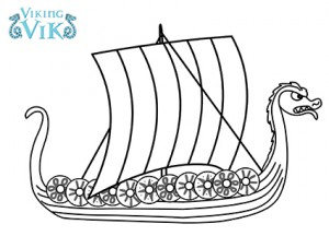 Viking Longship Colouring Pages Sketch Coloring Page