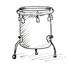 draw a snare drum   Shoo Rayner