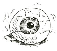 How to draw a scary eyeball   Shoo Rayner