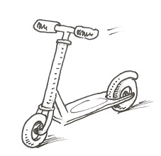 How to draw a scooter | Shoo Rayner