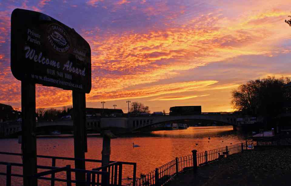 Sunset at Caversham Pier
