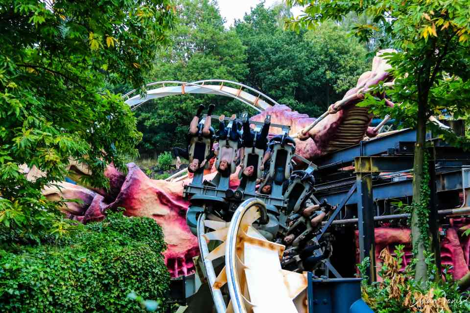 The final inversion of Nemesis rollercoaster