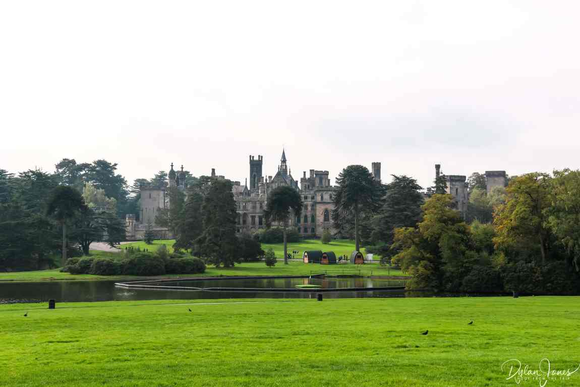 Alton Towers ruins from the lawns