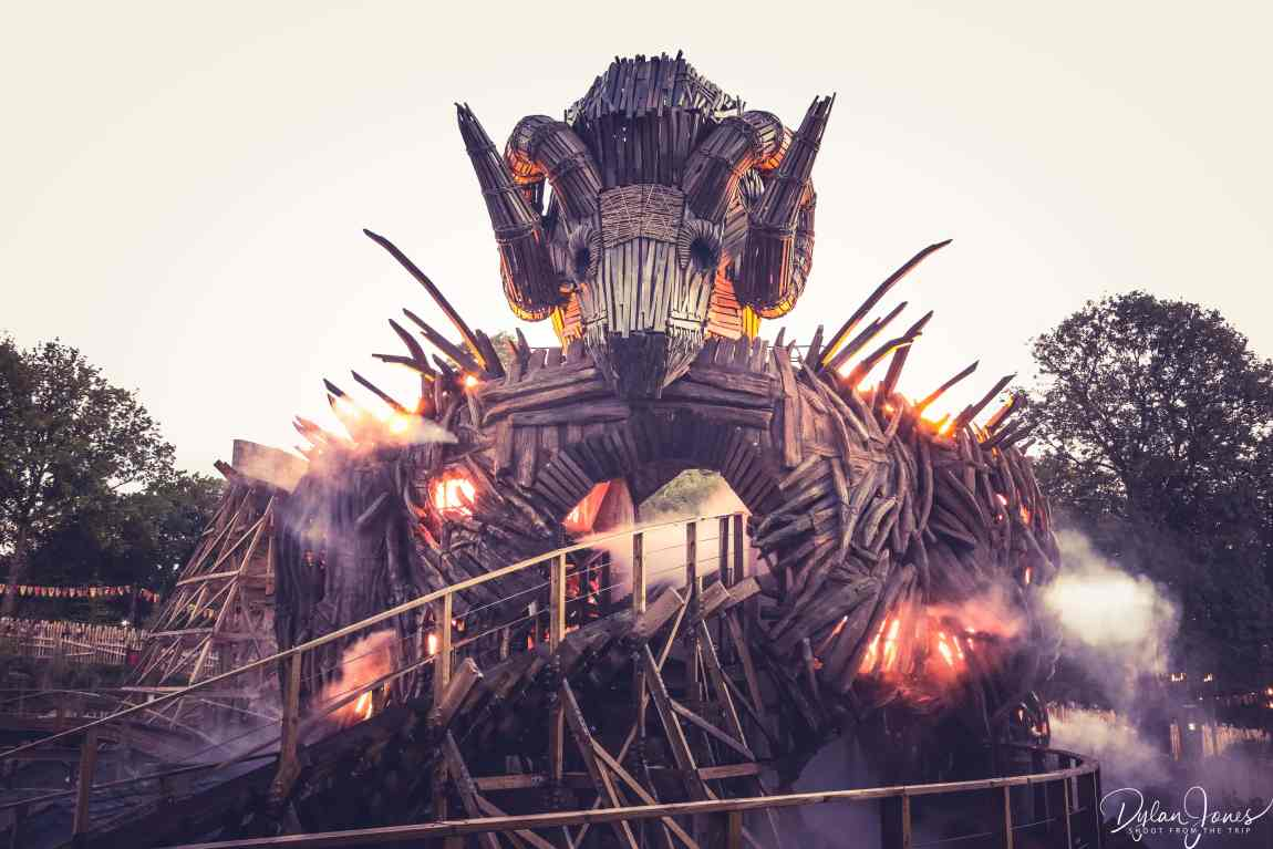 The spectacular Wicker Man effigy theming feature at Alton Towers