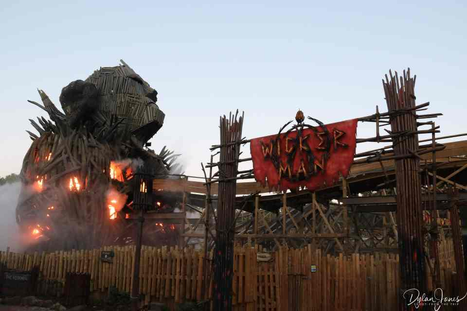 Entrance to the Wicker Man rollercoaster at Alton Towers