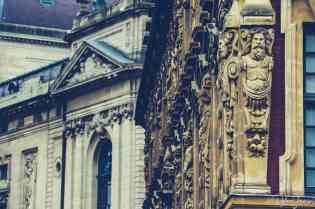 Statue details around the perimeter of the vielle bourse de lille
