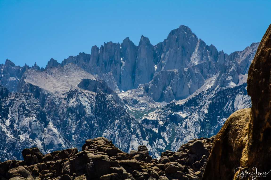 Eastern Sierra Mount Whitney and Alabama Hills contrast