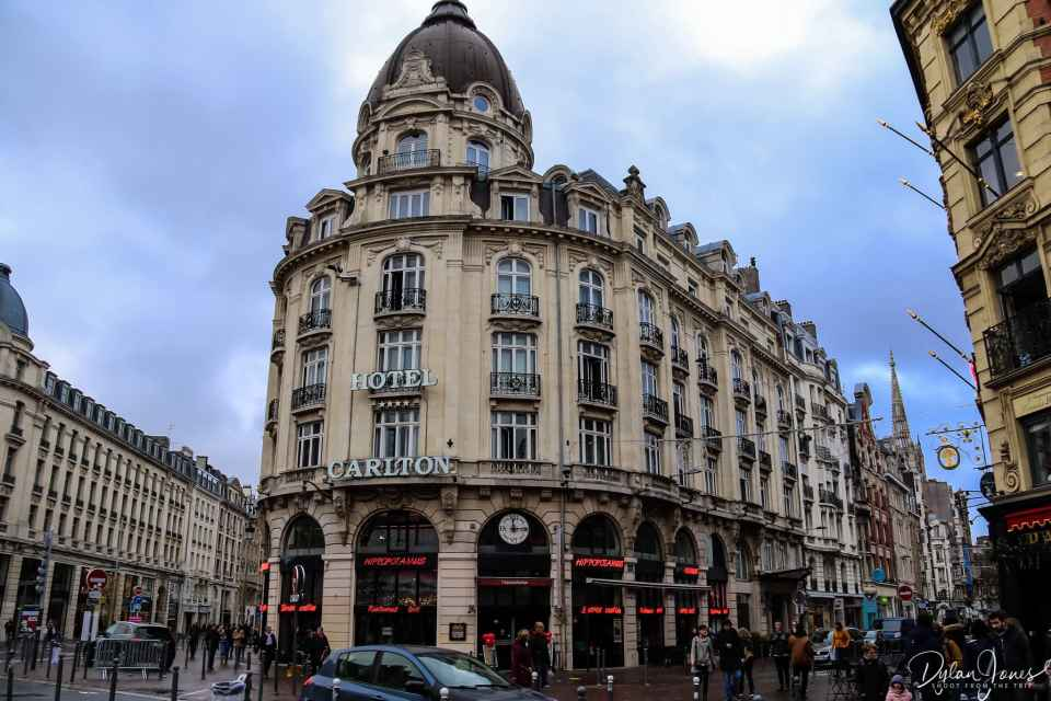 Hotel Carlton Lille located on the corner of Rue Faidherbe and Rue Pierre Mauroy