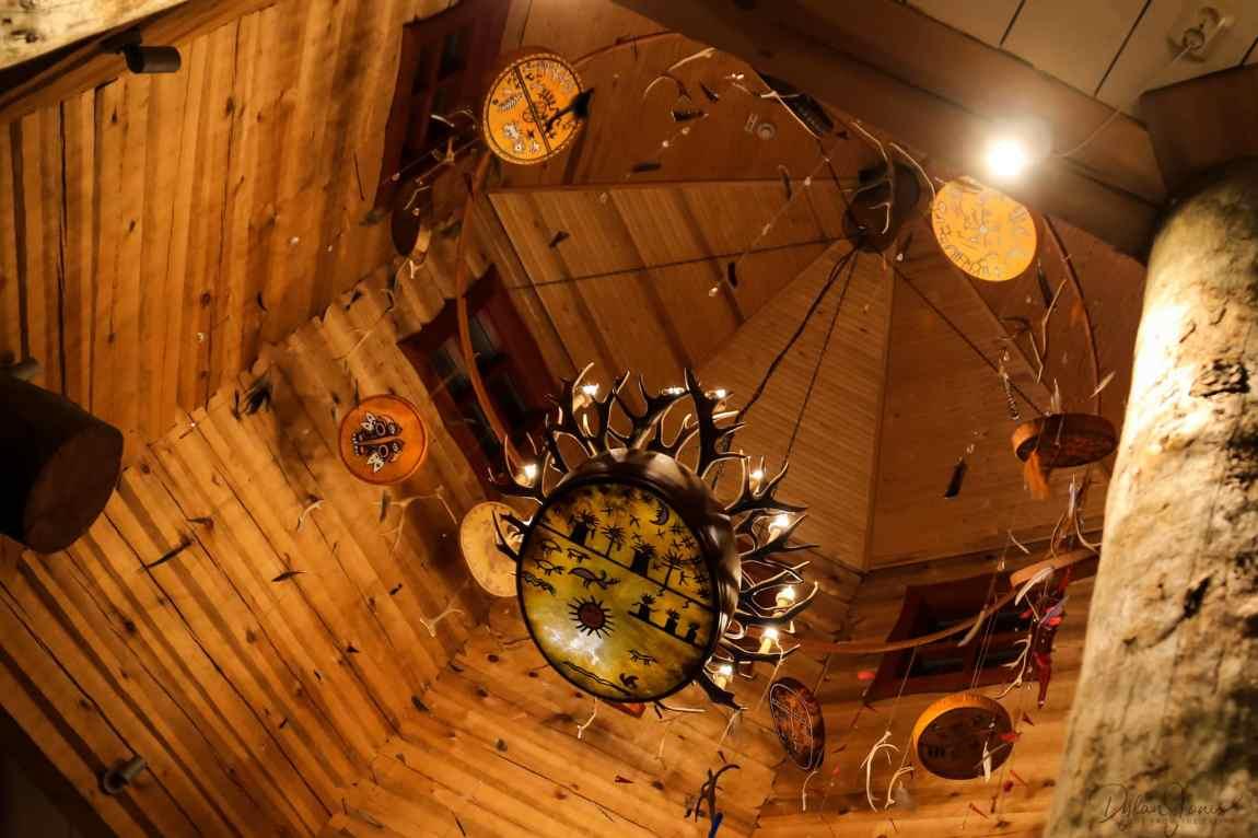 Decorative features at the Aurora Restaurant, Kakslauttanen West Village