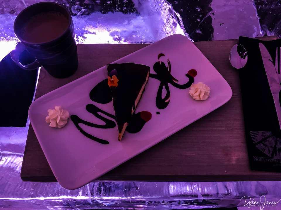 Blueberry Cheesecake dessert Saariselkä Lapland