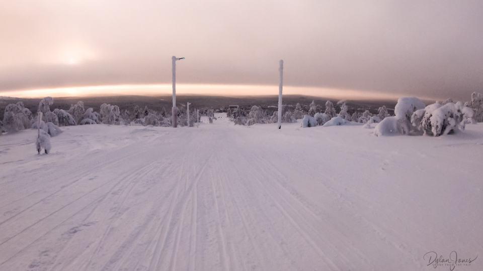 The start of the 1.2 km Toboggan Run, Saariselkä Lapland