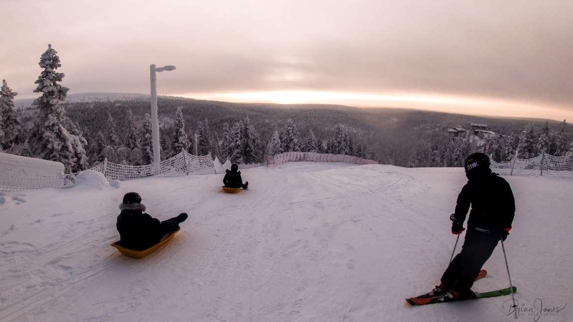 The longest toboggan run in Lapland