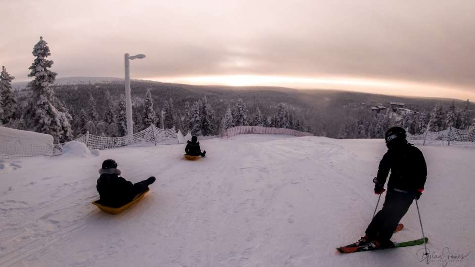 The longest toboggan run in Lapland